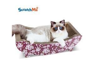 Cat Scratching Post Lounge Relaxing Bed Cat Scratcher Cardboard