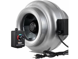 "10"" Inline Duct Ventilon Fan  Variable Speed Controller"
