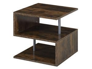 3 Tier End Coffee Table Console Stand Organizer Home Décor Oak Brown