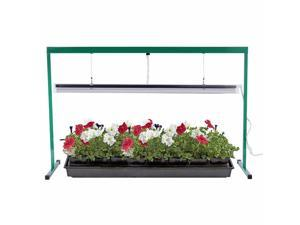 4 Feet 54W 6400K Fluorescent T5 Grow Light Stand Rack for Seed Starting