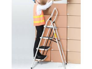 2/3/4 Step Ladder Folding Non Slip Safety Tread Heavy Duty Industrial Home