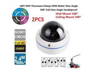 2PCS Panorama CCTV Surveillance Fish eye Camera CCD Security Camera 360 Degree