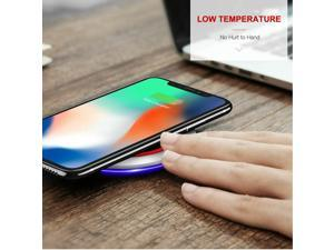 Fast Qi Wireless Charger Charging Pad For  iPhone 12 11 Xs Xr S8 S9 S10