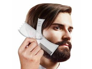 Beard Shaping and Styling Template Shaper Mustache Comb Tool for Perfect Lines