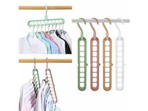 Multipurpose Clothes Hanger Space Saving Folding Hook Rack Wardrobe Coat Pants