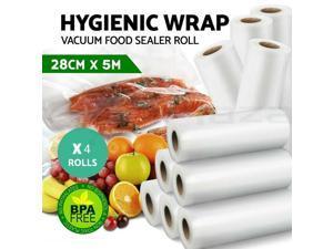 4x Vacuum Sealer Bags Roll Food Saver Seal 5Mx28cm Heat Grade Storage Commercial