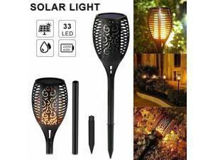 4 Outdoor LED Solar Torch Dancing Flickering Flame Light Garden Waterproof Lamp