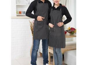 Apron Professional Chefs Black  White Striped Apron for Chef Waiter BBQ Cafe Ca