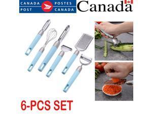 6 Pcs Cooking Kitchen Utensil  Gadget Set Stainless Steel Cooking Slicer Mixer.