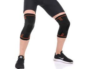 Compression Knee Sleeve Brace Pain Relief Running Joint Arthritis Support Relive