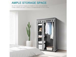 Portable Wardrobe Clothes Closet Durable Non-woven Fabric Home Storage Organizer