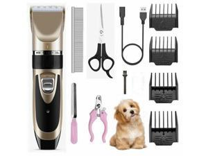 Professional Clippers Cordless Pet Dog Clipper Hair Shaver Grooming Trimmer Kit
