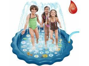 Outdoor Kids Sprinkler Play Mat Pad Lawn Beach Sea Animal Iatable Water Spray