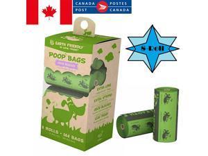 Poop Bags - 8 Rolls/144 Bags Dog Waste Bags Unscented Leak-Proof Easy Tear-Off