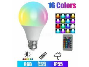 LED Smart Light Bulb RGB Lamp 16 Multi Colour Changing 24key Remote Controlled