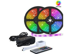RGB LED Strip Lights 60LED/M IP65 3528 5/10M 12V 44key IR Controller + 6A Power