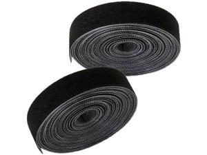 4pc 1M Double Sided Sew-on Hook and Loop Fastener Tape Reusable Cable Ties Wraps