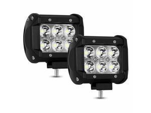 LED Work Light Bar Spot Flood Roof Lights Driving Lamp Offroad Car SUV ATV 18W