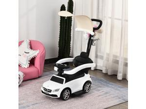 3 in 1 Ride on Push Car Stroller Sliding Car w/ Canopy 1-3 Years Old