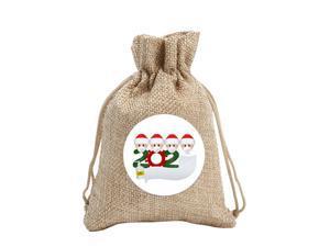 Christmas Candy Cookies Bags DIY Name Linen Drawstring Bag Festival Decor CA