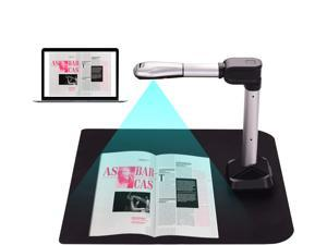 GOPYI BK51 USB Document Camera Scanner Capture Size A3 HD 16 Mega-pixels High Speed Scanner with LED Light for ID Cards Passport Books Watermarks Setting PDF Format Export for Classroom Office scanner