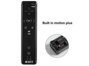Miadore 2-in-1 Remote w/ Motion Plus - Black, Ergonomic Design, Wrist Strap - Handheld Game Controller for Wii, Wii U Console | Gaming Accessories