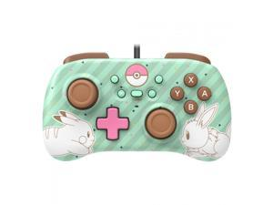 Hori Nintendo Switch Wired Mini Pad Controller w/ Pikachu & Eevee Mini Design - Dual Analog Sticks, D-Pad, Turbo Functionality | Gaming Consoles & Accessories
