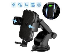 YOOZI Wireless Car Charger,  15W Qi Fast Charging Auto Clamping Car Charger Phone Mount Windshield Dashboard Air Vent Phone Holder for iPhone 11Pro/Max/XR/11/X/8, Samsung S10/S10+/S9/S9+/S8/S8+