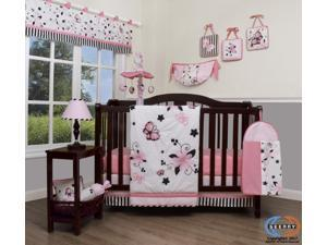 13PCS New Pink Butterfly Baby Nursery Crib Bedding Sets By Geenny