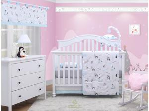 6-Piece My Cute Little Penguin Baby Boy Nursery Crib Bedding Sets By OptimaBaby