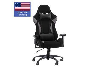 SMUGDESK Gaming Chair Racing Computer Desk Office Chair High Back Game Chair Seat Height Armrest Adjustable Swivel Ergonomic Task Chair with Headrest and Lumbar Support,Grey