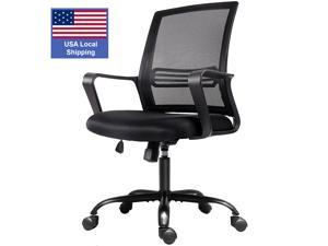 SMUGDESK Home Office Chair, Mid Back Mesh Office Computer Swivel Desk Task Chair, Ergonomic Executive Chair with Armrests