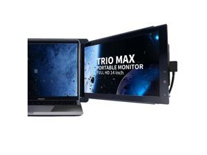 "Trio Max Slide Portable Monitor for Laptop, 14"" FHD 1080P Attachable Laptop Screen Eye Care, USB C/USB A Dual or Triple Displays,13-17"" Laptops Windows/OS/Android/Nintendo Switch(One Trio Max Screen)"