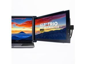 """Trio Portable Monitor for Laptop,The On-The-Go Dual & Triple Screen 1080P IPS Display Laptop Monitor, USB A/Type-C, Lightweight Design,Mac, PC,Linux, Chromebook 13-17 Laptops (One Trio 12.5"""" Monitor)"""