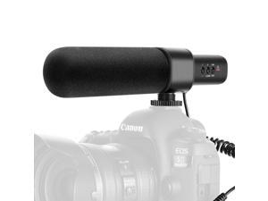 Neewer CM15 Camera Microphone  Uni-Directional Condenser Interview Microphone Compatible with Nikon/Canon/Sony/Panasonic Camera/DV Camcorder (NotCompatible with Canon T5i,T6 and T7 ,smart phones)