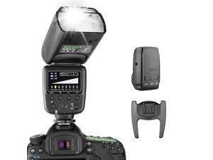 Neewer Flash Speedlite with 433MHz wireless system and 16 channel RT transmitter for Canon Nikon Sony Panasonic Olympus Fujifilm Pentax and Other DSLR Cameras with standard Hot Shoe (NW570)