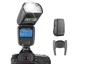 Neewer Wireless Flash Speedlite for Canon Nikon Sony Panasonic Olympus Fujifilm and Other DSLR Cameras with Standard Hot Shoe, with LCD Display, 2.4G Wireless System and 15 Channel Transmitter (NW580)