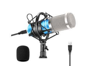 Neewer USB Microphone 192KHZ/24Bit Plug & Play Computer Cardioid Mic Podcast Condenser Microphone with Professional Sound Chipset for Livestreaming/YouTube/Gaming Recording/Voice Over(NW-8000-USB)