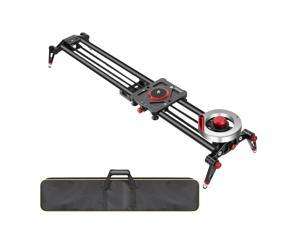 Neewer Camera Slider Video Track Dolly Rail Stabilizer: 31-inch/80cm, Flywheel Counterweight with Light Carbon Fiber Rails, Adjustable Legs, Carry Bag, DSLR Camera Camcorder Track for Filming