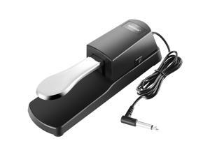Neewer Universal Piano-style Sustain Foot Pedal with Polarity Switch Design Compatible with Any Electronic Keyboard with 1/4 Input Jack
