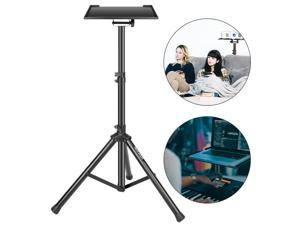 """Neewer Laptop Stand for Desk Mac Riser for Bed and Sofa Lap for MacBook Pro Air Netbook 36.2-51.2"""" Black Deluxe Adjustable and Collapsible Heavy-Duty with Solid Tripod Base and Non-slip Rubber Caps"""