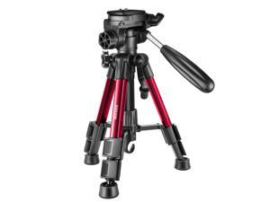 Neewer Mini Travel Tabletop Camera Tripod 24 inches/62 Centimeters, Portable Aluminum with 3-Way Swivel Pan Head for DSLR Camera,Smartphones,DV Video up to 6.6 pounds/3 Kilograms(T210 Red)