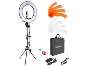 "Neewer Ring Light Kit: 18""/48cm Outer 55W 5500K Dimmable LED Ring Light, Light Stand, Carrying Bag for Camera, Smartphone, YouTube, TikTok, Self-Portrait Shooting, Black, Model: 10088612"