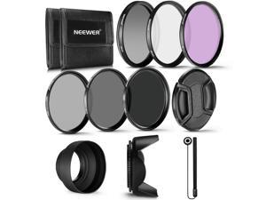 Neewer 58MM Professional UV CPL FLD Lens Filter and ND Neutral Density Filter(ND2, ND4, ND8) Accessory Kit for Canon Rebel and EOS Camera