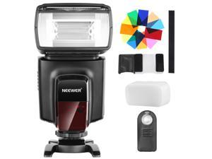 Neewer TT560 Flash Speedlite with 12 Color Filters, Hard Diffuser and IR Wireless Remote Control Kit for Canon Nikon Olympus and Other DSLR Cameras