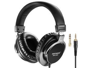 Neewer NW-3000 Closed Studio Headphones, 10Hz-26kHz Lightweight Dynamic Headsets with 3 meters Cable, 3.5mm and 6.5mm Plugs, Low Noise for Appreciating Music, Watching Movies, Playing Games, Recording