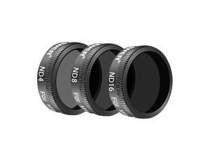 Neewer DJI Mavic Air Lens Filter Kit - 3 Pieces Pro Neutral Density Filters ND4, ND8, ND16 Filter, Made of Multi Coated Waterproof Aluminum Alloy Frame Optical Glass (Black)