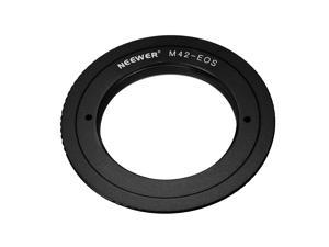 Neewer Aluminum Alloy Lens Mount Adapter for M42 Lens to Canon EOS Camera, Such as 1d/1ds, Mark II, III, 5D, Rebel xt, xti, T2i, and More - Black