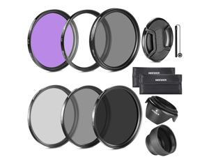 Neewer 52MM Lens Filter Kit:UV, CPL, FLD, ND2, ND4, ND8 and Lens Hood, Lens Cap for NIKON D7100 D7000 D5200 D5100 D5000 D3100 D3000 D90DSLR Cameras
