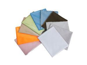 """Neewer 10 Packs Assorted Color Microfiber Cleaning Cloths, 6""""x7"""" Reusable & Washable Microfiber Cloth for Cleaning Glasses, Lenses, Phones, Screens, Camera and Other Delicate Surfaces"""